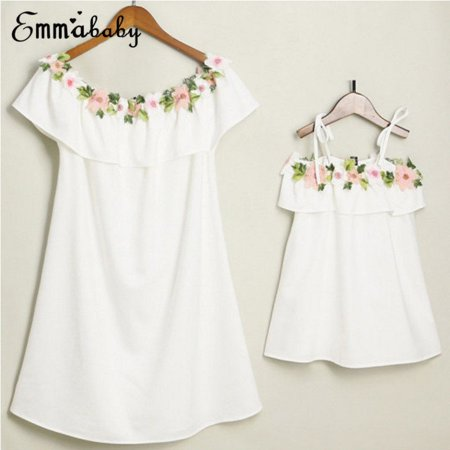 Hot Family Matching Dresses Mother;Daughter Women Girls Floral Dress Party Clothes - Girls Hot Clothes