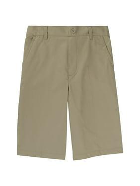 French Toast Husky Boys School Uniform Boys Pull-On Twill Shorts (Husky)