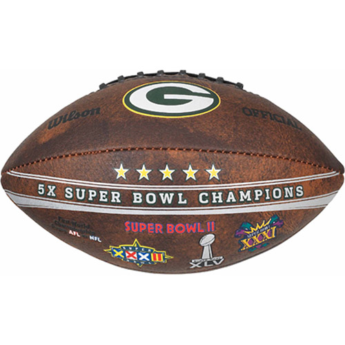 "Wilson NFL Commemorative Championship 9"" Football, Green Bay Packers"