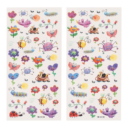 2 Sheets Insect Pattern Shoulder Leg Paper Sticker Temporary Tattoos Multicolor - Leg Lamp Tattoo