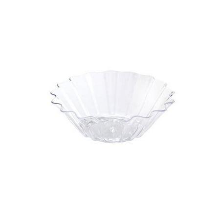 Mini Ware Plastic Scalloped Dish Clear,Case of 288 EA ()
