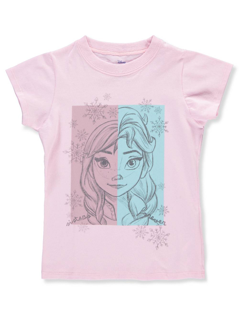 Frozen Girls' T-Shirt Featuring Anna & Elsa