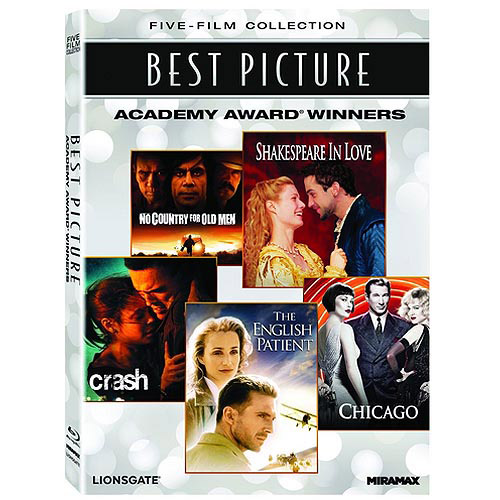 Best Picture Academy Award Winners: The English Patient / Chicago / Crash / No Country For Old Men / Shakespeare In Love