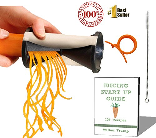 #1 Zoodle Magic Veggie Spiralizer + BONUS PACK eBook + Cleaning Bush +Citrus Peeler RAW Zucchini Noodles... by RawNori