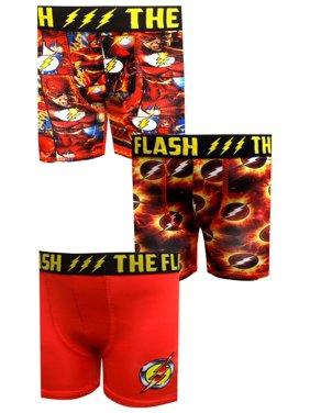 DC Comics The Flash Boys Underwear, 3 Pack Boxer Briefs (Little Boys & Big Boys)