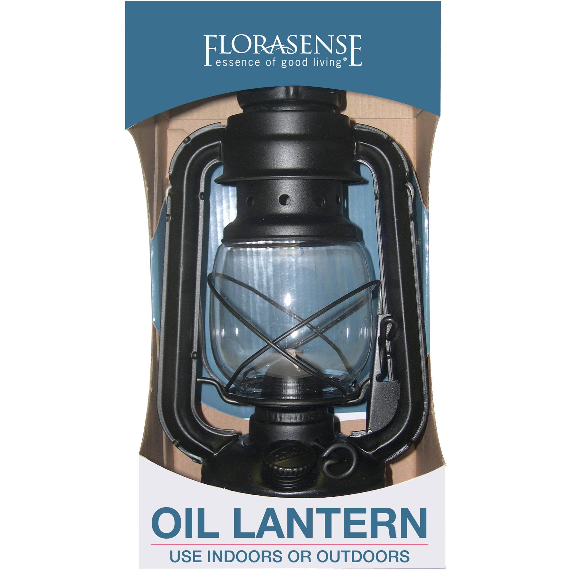 Florasense Hurricane Oil Lantern, Black
