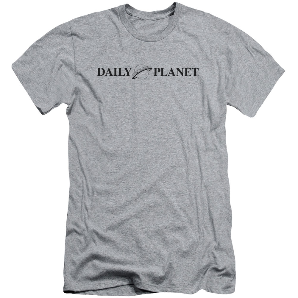 Superman Men's  Daily Planet Logo Slim Fit T-shirt Athletic Heather