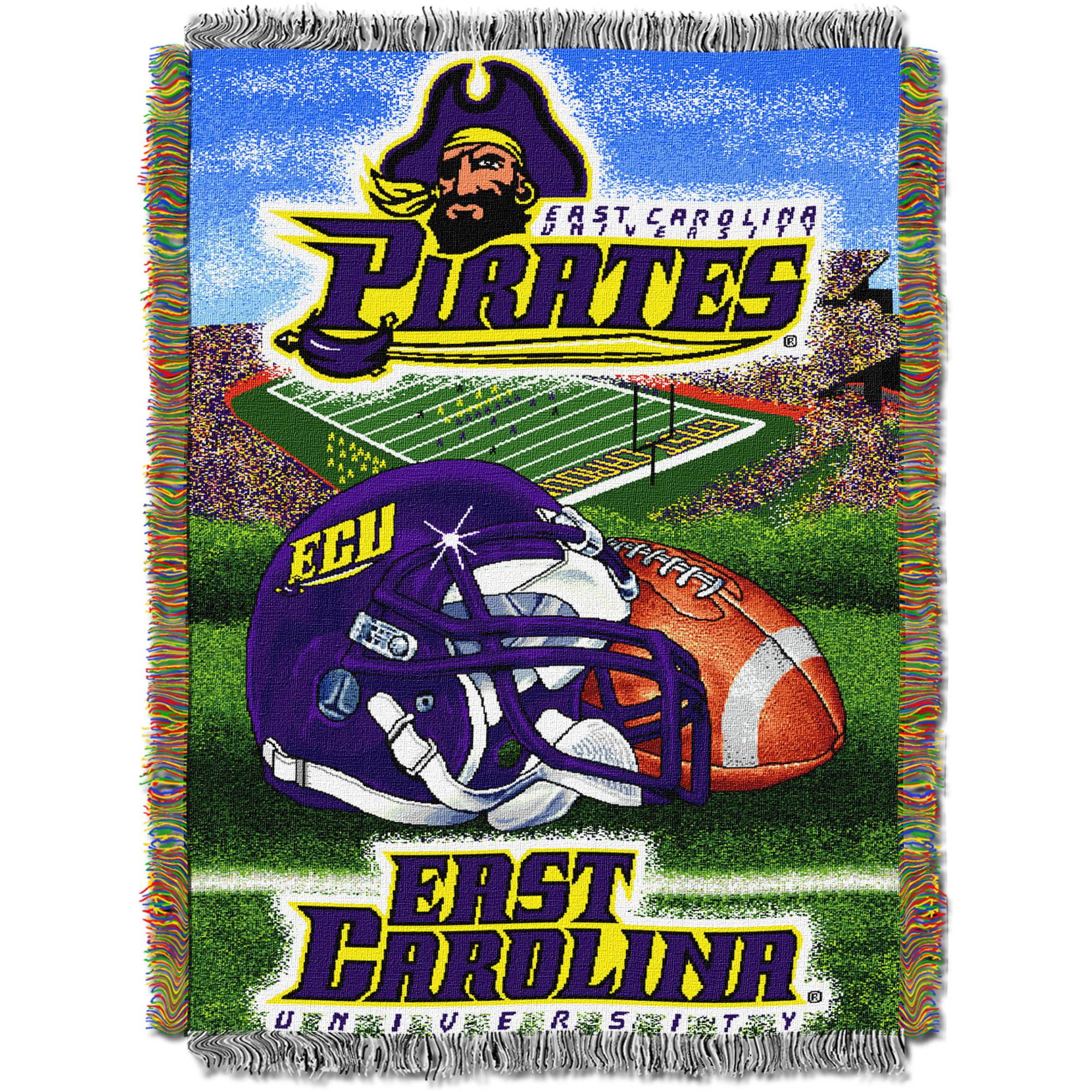 "NCAA 48"" x 60"" Tapestry Throw Home Field Advantage Series- East Carolina"