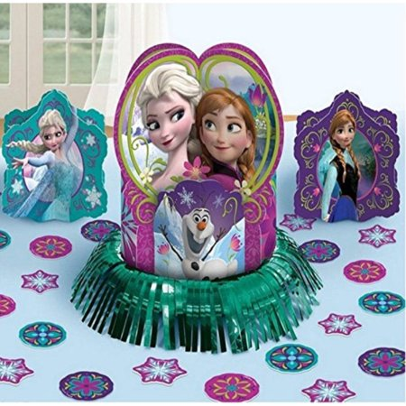 Disney Frozen Elsa & Anna Birthday Party Favor Tile Centerpiece Decoration Kit - Frozen Center Pieces