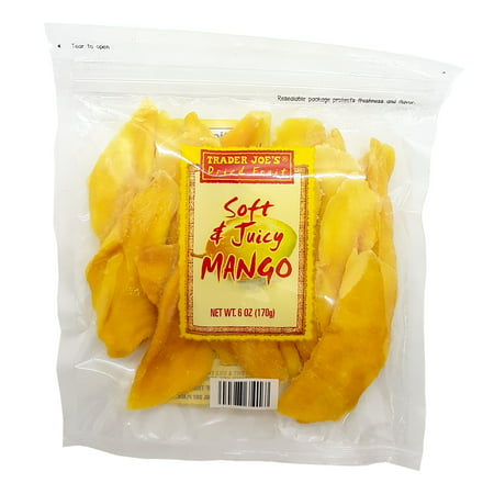 Trader Joe's Soft & Juicy Mango 6 Oz. (Pack of 5)
