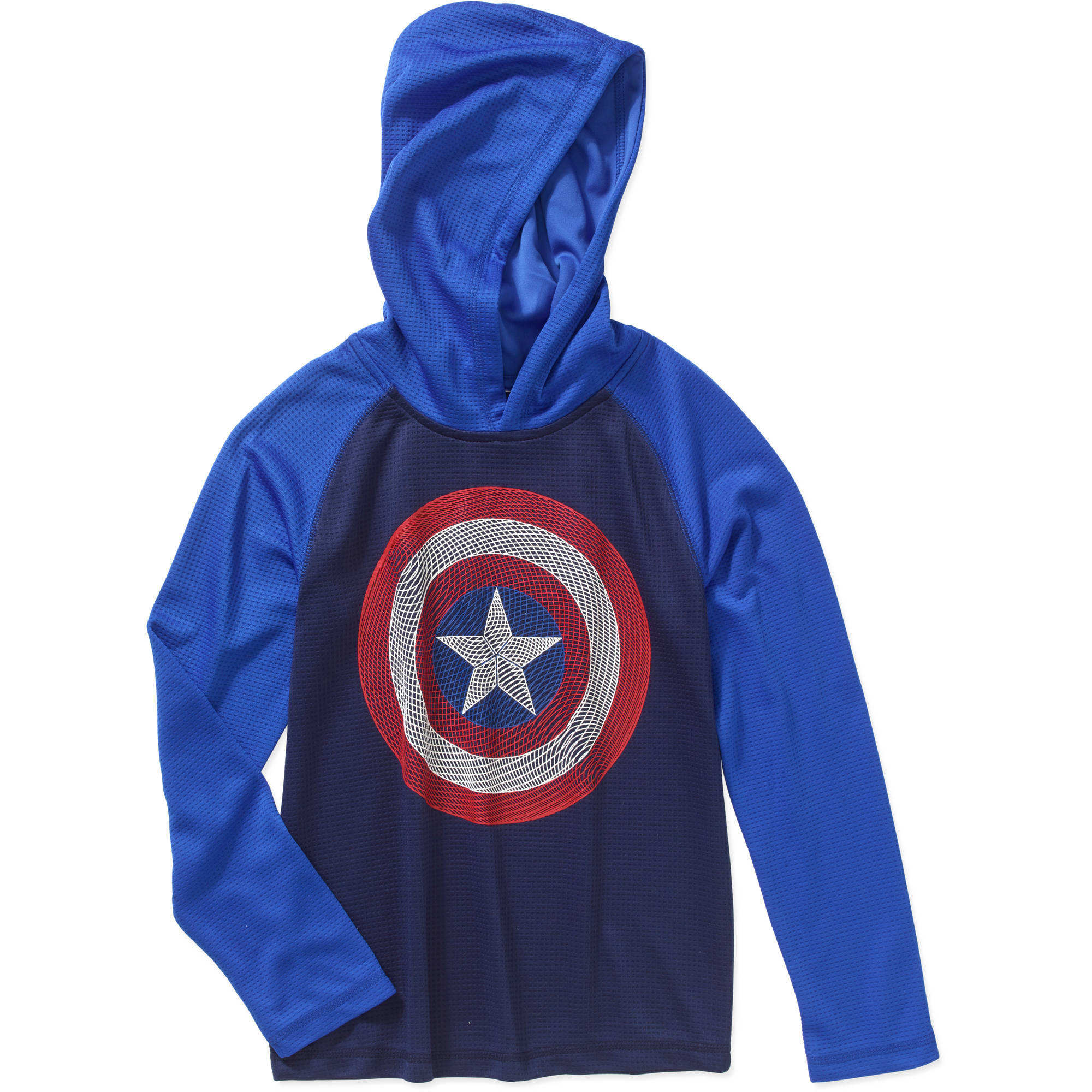 Marvel Captain America Boys' Thermal Graphic Hoodie