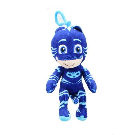 PJ Masks Clip-On Catboy Plush Key chain Coin Clip On BOOK Bag BLUE Keychain