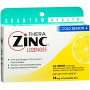 Quantum Thera Zinc Cold Season+ Lozenges Lemon 24 Each (Pack of 2)