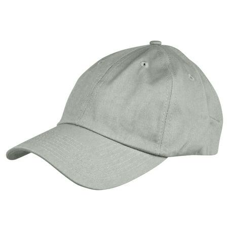 9a7b6b8d Dalix Unisex Unstructured Cotton Cap Adjustable Plain Hat - Unstructured  (Gray)