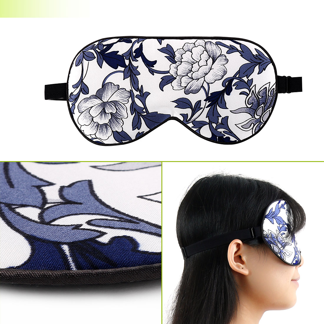 Natural Silk Sleeping Mask with Adjustable Strap Supersmooth Eye Mask Eyepatch