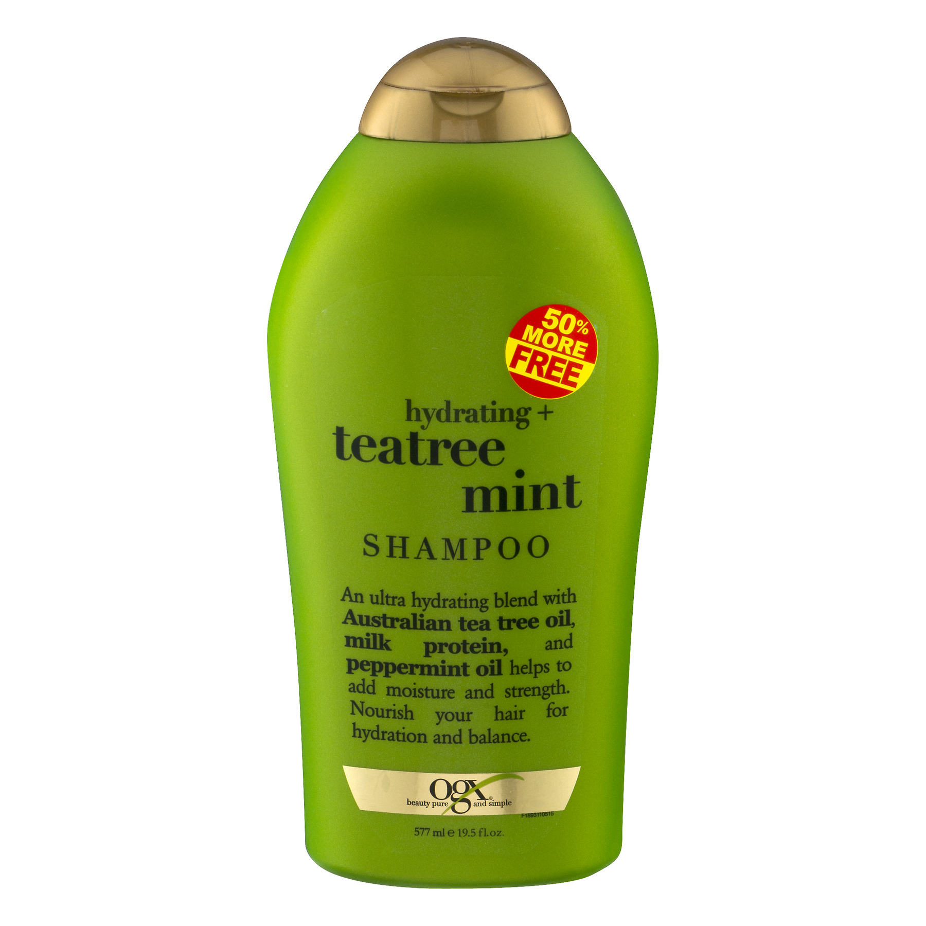 OGX Hydrating Teatree Mint Shampoo, 19.5 oz
