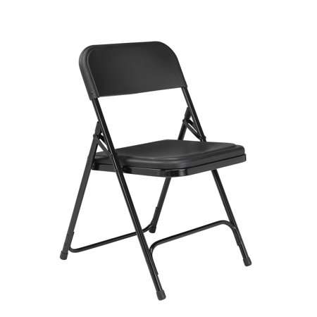 NPS® 800 Series Premium Lightweight Plastic Folding Chair, Black (Pack of 4)