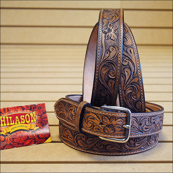 "30-60"" HILASON HEAVY DUTY HAND MADE GENUINE LEATHER GUN HOLSTER BELT WORK MEN DARK BROWN"
