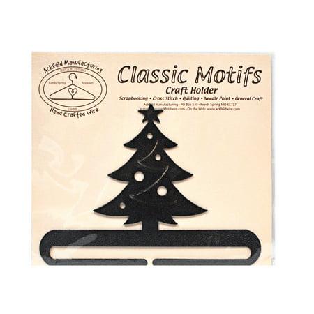 Classic Motifs Christmas Tree 6 Inch Charcoal Split Bottom Craft - Christmas Tree Holder