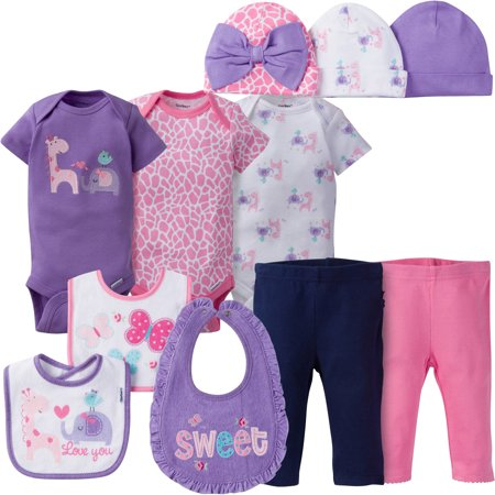 Gerber Newborn Baby Girl Perfect Baby Shower Gift Layette Set  11 Piece