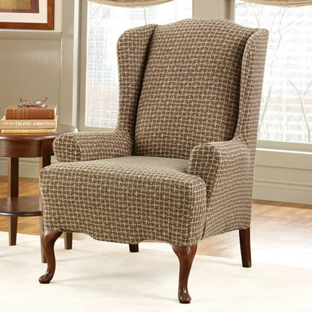 Surefit Stretch Baxter Wing Chair Slipco Walmart Com