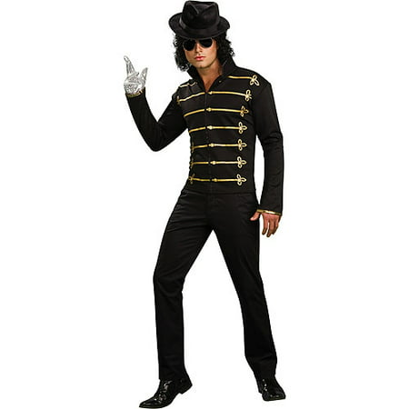Michael Jackson Military Printed Jacket Adult Halloween Costume - Michael Jackson Makeup Halloween