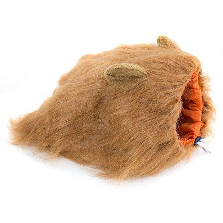 Furryfido Lion Mane -Lion Wig for Medium to Large Sized Dogs with Ears plus Gift - Complementary Lion Mane for Dog Costumes (Brown) - Wig On Dog