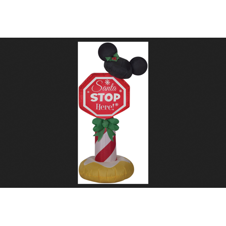 Stop Inflatable - Gemmy Industries Mickey Ears Stop Sign Christmas Inflatable Fabric 42 in. H