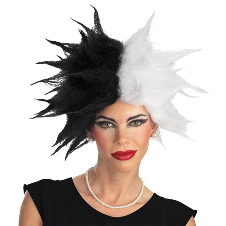 Cruella Wig Adult Halloween Accessory - White Wigs Halloween