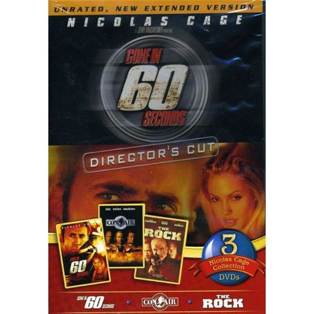 Nicolas Cage 3 Pack  Gone In 60 Seconds   Con Air   The Rock  Widescreen