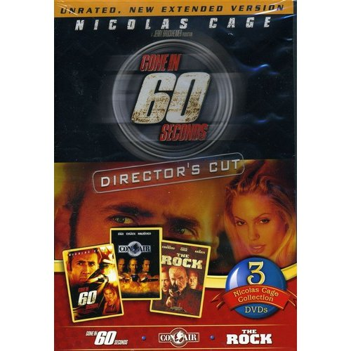 Nicolas Cage 3-Pack: Gone In 60 Seconds / Con Air / The Rock (Widescreen)