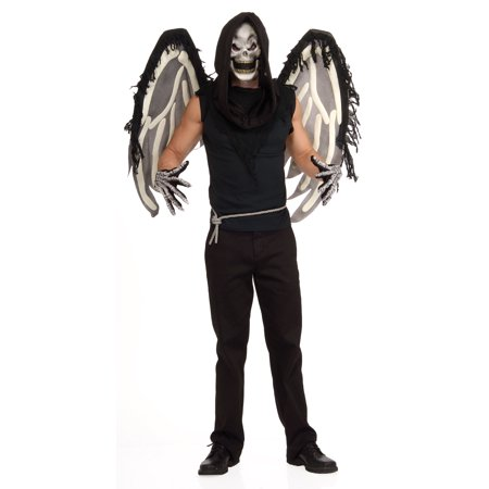 Adult Skeleton Goth Gothic Dark Angel of Death Mask Wings Costume Accessory](Angel Mask)