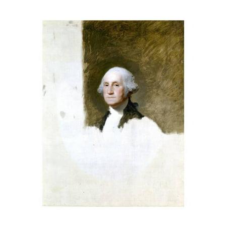 Portrait of George Washington (The Athenaeum Portrait) Print Wall Art By Gilbert (George Washington Portrait)