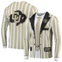 Colorado Buffaloes Faux Real Suit Long Sleeve T-Shirt - Gold