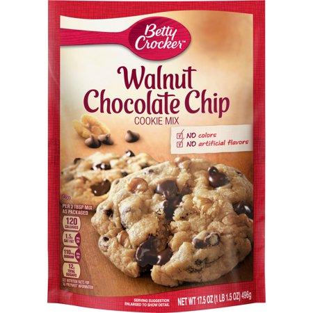 Betty Crocker Walnut Chocolate Chip Cookie Mix, 17.5 oz Box