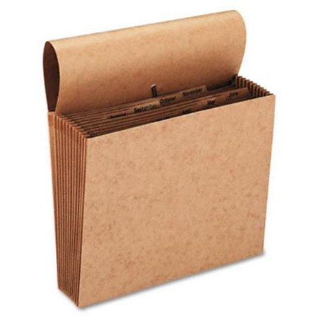 Jan-Dec Indexed Expanding Files  21 Pockets  Kraft  Letter  Brown