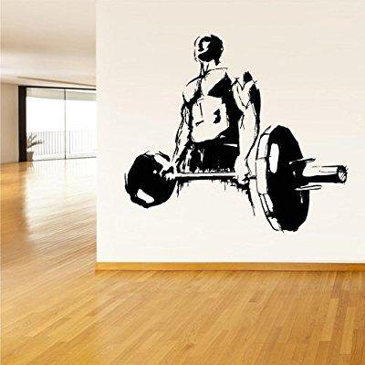wall decal vinyl sticker decals gym gymnastics muscule fitness sport