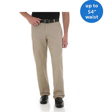 Wrangler Big Men's Advanced Comfort Flat Front Pants