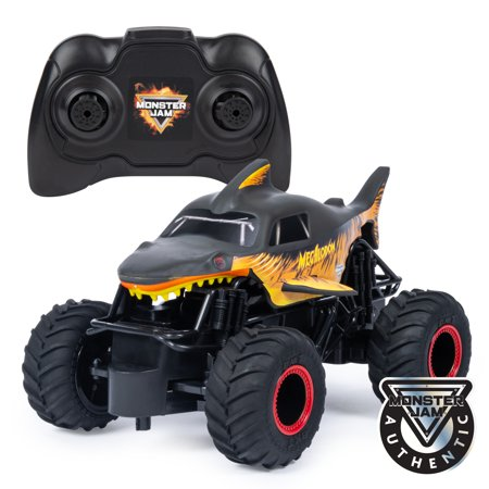 Monster Jam, Official Fire & Ice Megalodon RC Truck, 1:24 Scale, 2.4 GHz, for Ages 4 and (Best Monster Truck Venues)