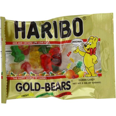 Haribo Gold-Bears Gummi Candy, 2 oz, (Pack of 12)