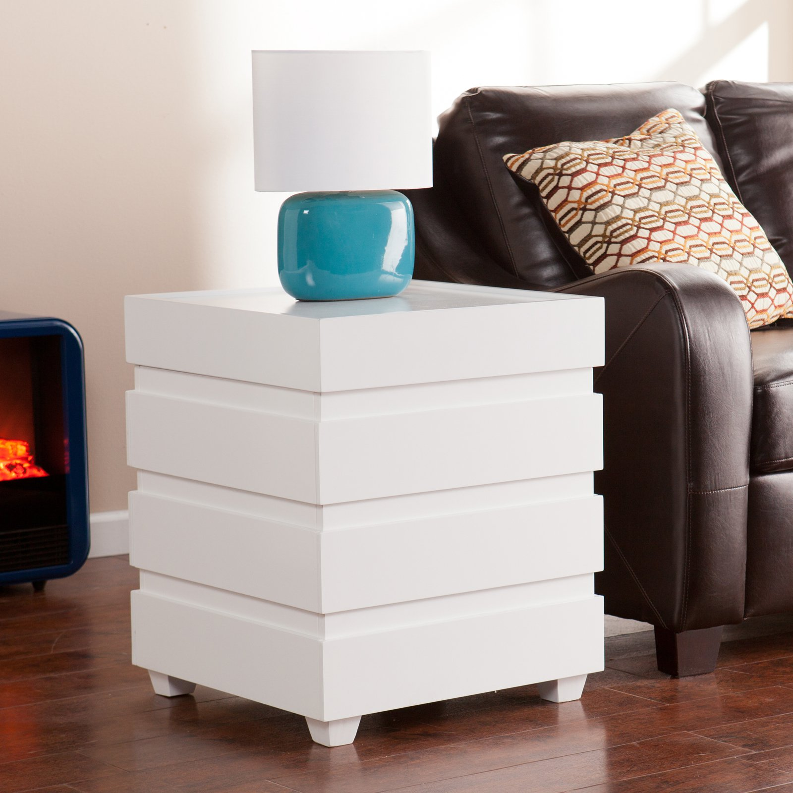 Holly & Martin Lavrock Trunk End Table, White