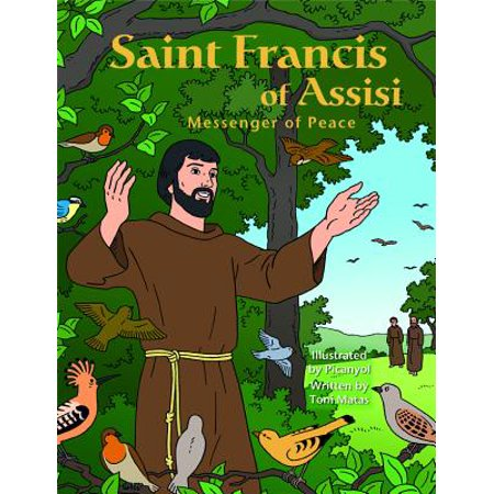 Saint Francis Assisi Messeng Graphic - All Saints Day For Kids