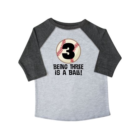 3rd Birthday Baseball 3 Year Old Boy Toddler T Shirt
