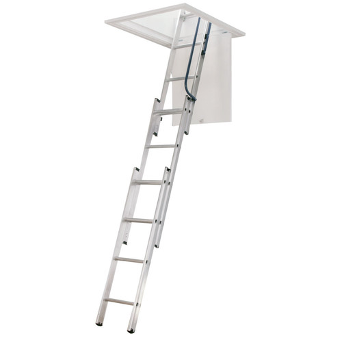 Werner Universal Telescoping Aluminum Attic Stairs by Werner