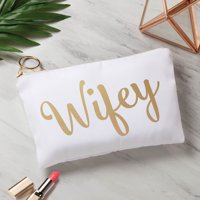 Gold Bridal Personalized Zipper Pouch