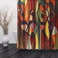 Product Image African Woman Waterproof Bathroom Shower Curtain Art Decor Afrocentric In Tribal Dresses 60 X 72 Inch