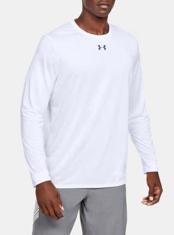 Under Armour Men/'s Heatgear UA Locker T-Shirt Black//Steel L