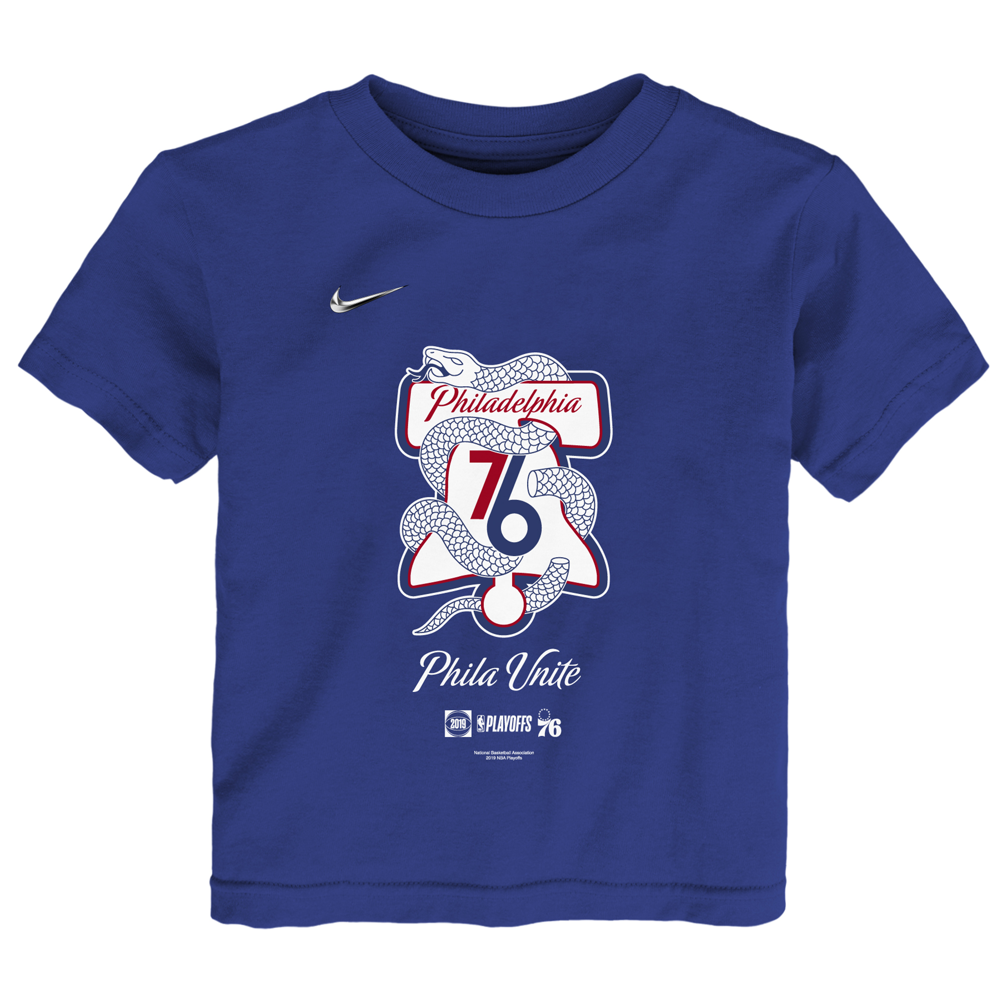 Philadelphia 76ers Nike Toddler 2019 NBA Playoffs Bound Mantra T-Shirt - Blue