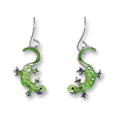 Paul Brent Silver Plated Little Gecko Dangle Earrings 21-46-Z1
