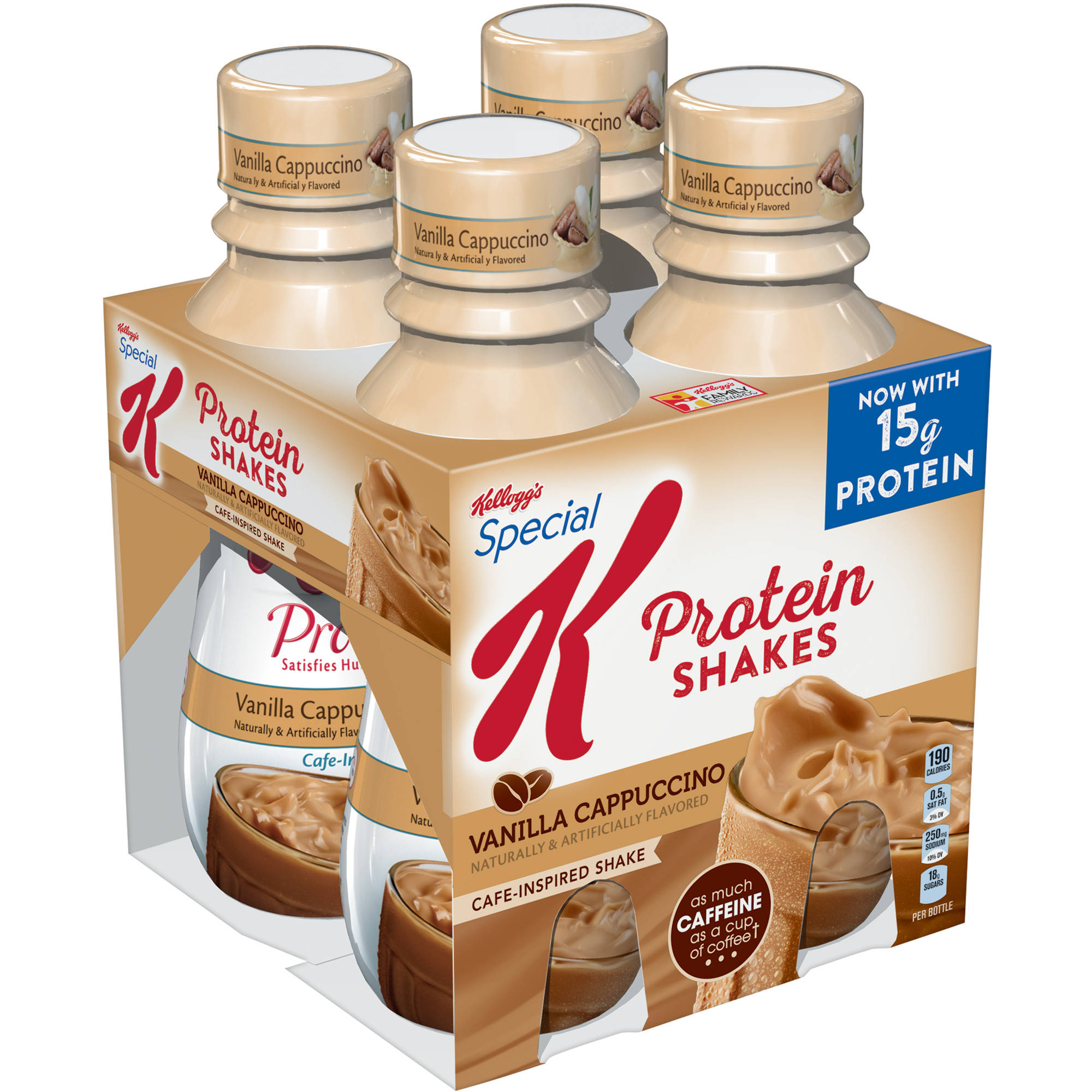 Kellogg's Special K Protein Vanilla Cappuccino Cafe-Inspired Shakes, 10 fl oz, 4 pack
